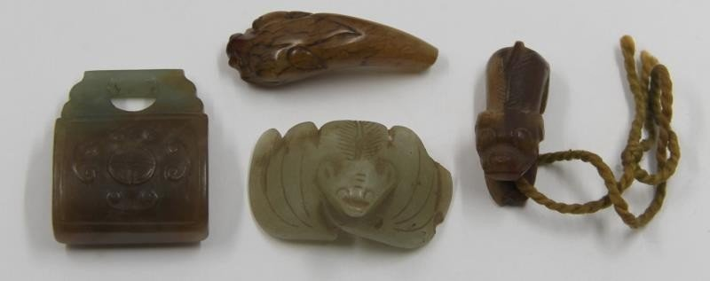 Assorted Grouping of Asian Hardstone Items. - 3