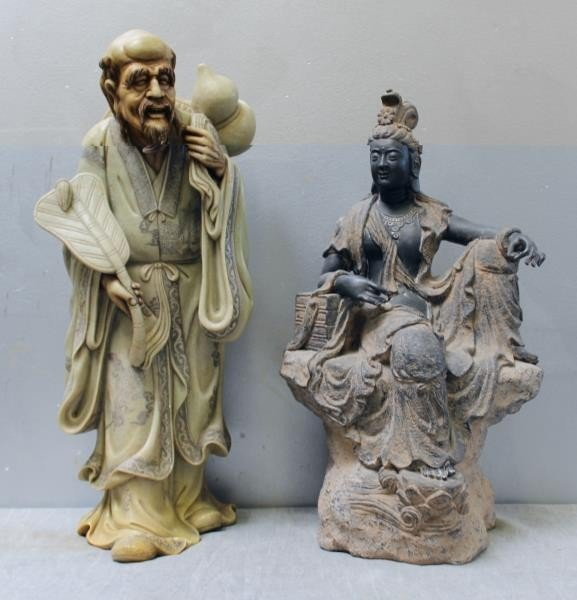 2 Finely Executed Asian Hard Stone Sculptures .