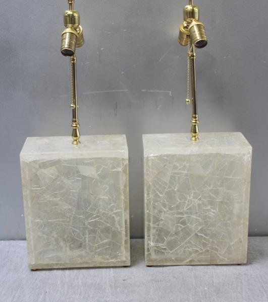 Pair of Vintage Rock Crystal Style Lamps.