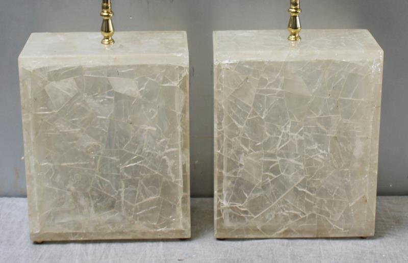 Pair of Vintage Rock Crystal Style Lamps. - 2