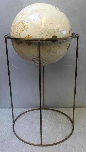 Midcentury Paul McCobb Globe on Stand. - 2
