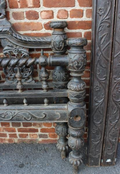 Highly Carved Anglo-Indian 4 Poster Bed. - 4