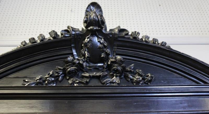 Victorian Ebonised & Finely Carved Cabinet . - 4