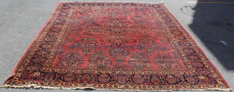 Finely Woven Roomsize Sarouk Carpet