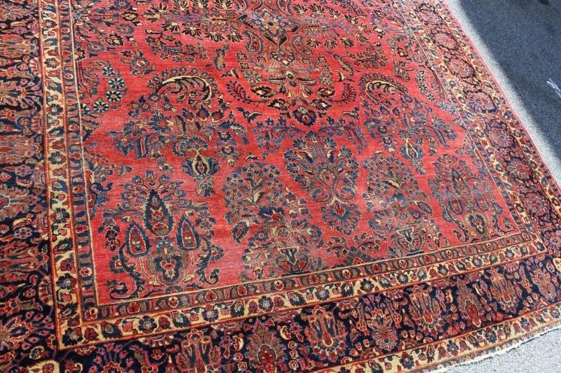 Finely Woven Roomsize Sarouk Carpet - 3