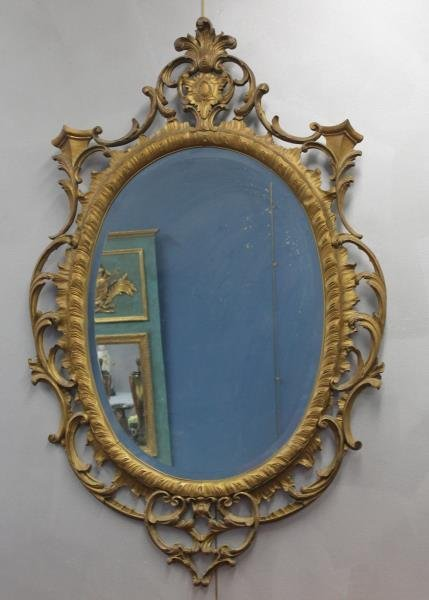 Carved Giltwood Mirror.