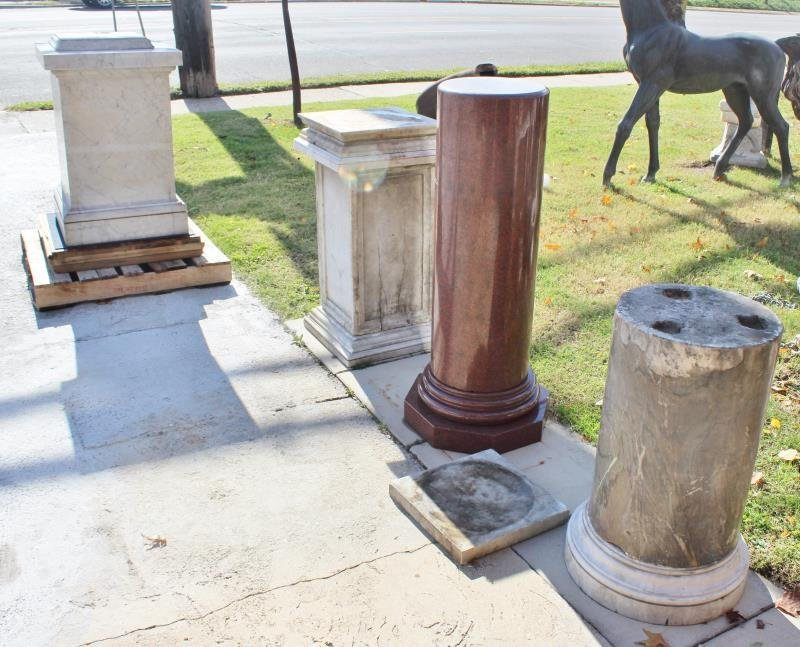 Lot of Marble Architectural Fragments / Pedestals.