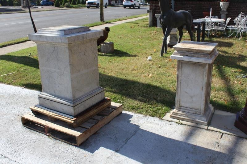 Lot of Marble Architectural Fragments / Pedestals. - 8