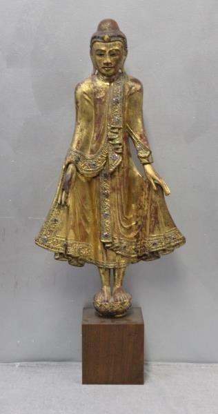 Antique Giltwood Buddha