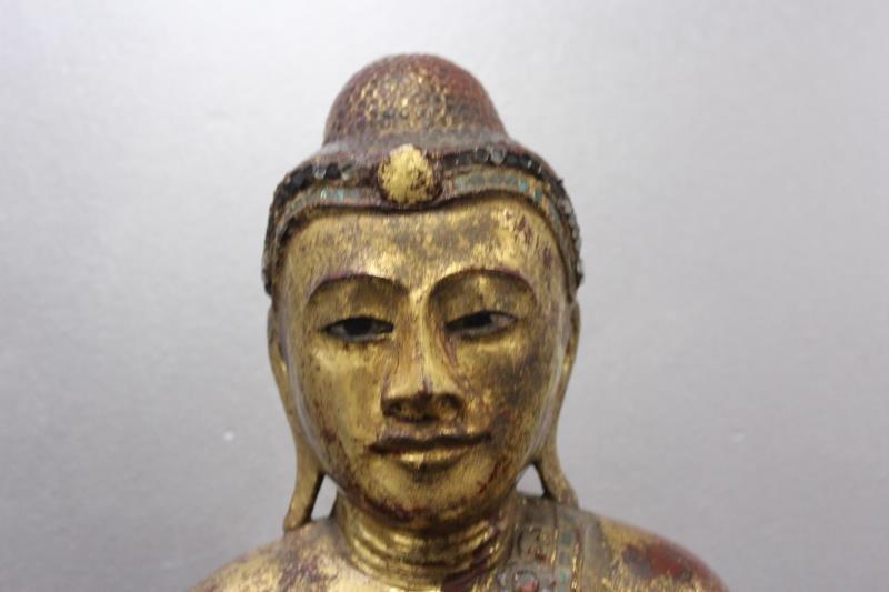 Antique Giltwood Buddha - 3