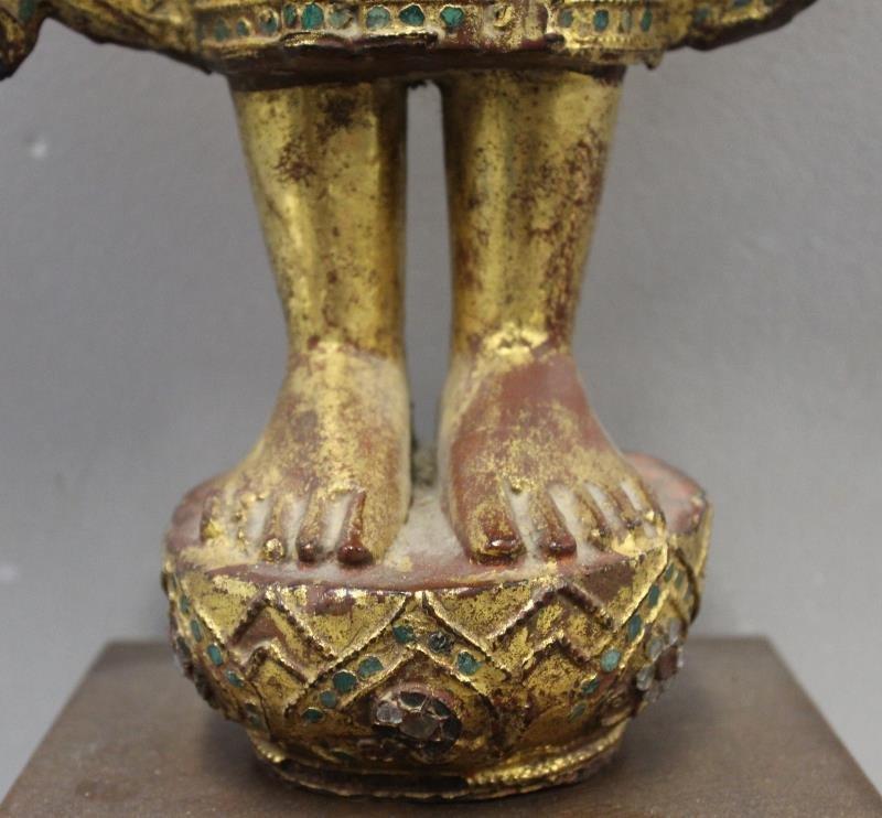 Antique Giltwood Buddha - 5