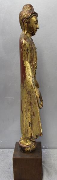 Antique Giltwood Buddha - 6