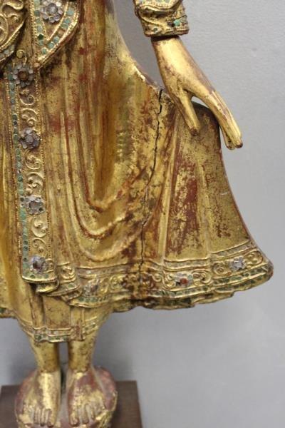 Antique Giltwood Buddha - 7
