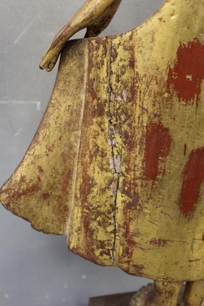 Antique Giltwood Buddha - 9