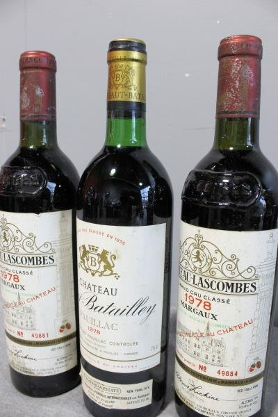 Chateau Lascombes & Chateau Batailley 1978 Wine - 2