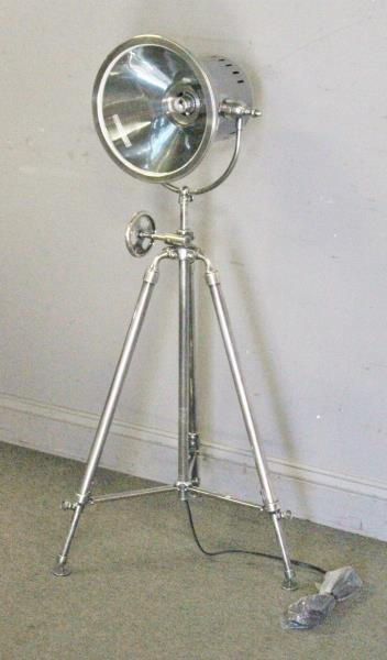 Industrial Style Steel Spotlight Floor Lamp.