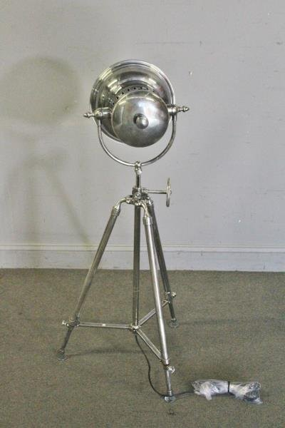 Industrial Style Steel Spotlight Floor Lamp. - 3