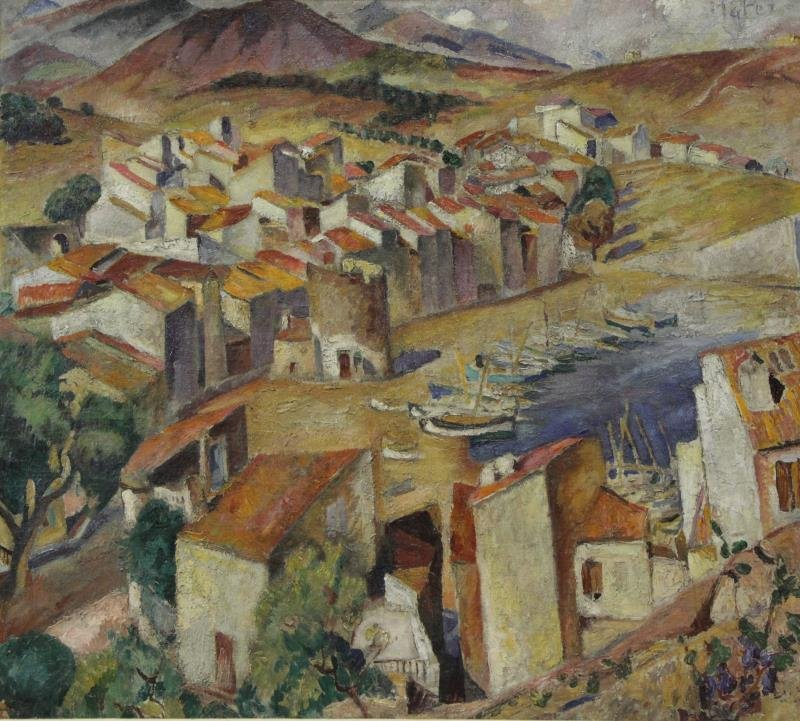 MUTER, Mela. Oil on Canvas. Provencal Village