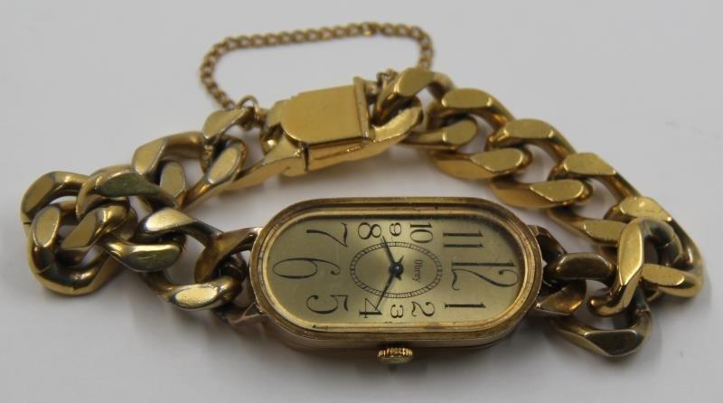 JEWELRY. French Obrey 14kt Gold Ladies Watch