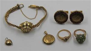 JEWELRY. Vintage Gold Jewelry Grouping.