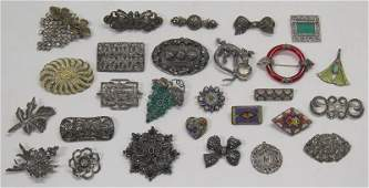 JEWELRY Large Grouping of Marcasite and Micro