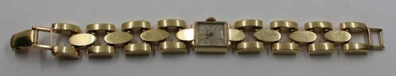 JEWELRY. Retro Omega 14kt Gold Ladies Watch.