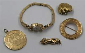 JEWELRY. Gold Jewelry Grouping.