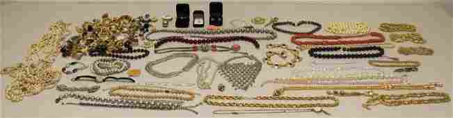JEWELRY. Large Grouping of Costume and Sterling.