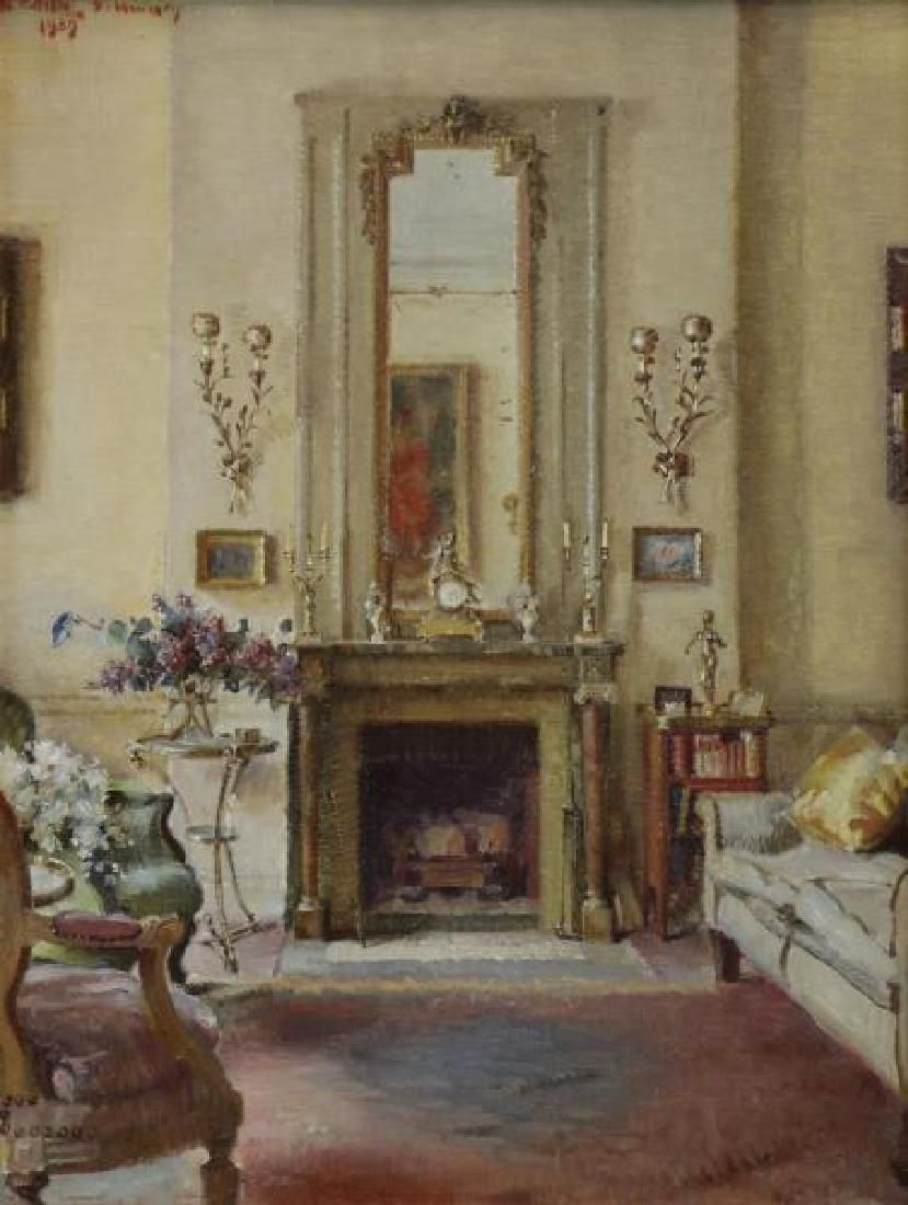 GAY, Walter. Oil on Canvas. Elegant Interior.