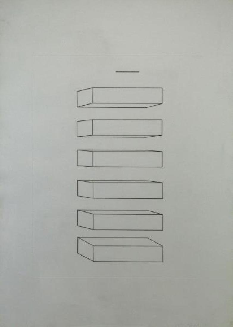 JUDD, Donald. Etching. Untitled, 1974.