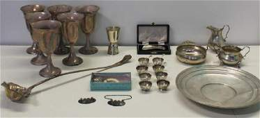 STERLING. Assorted Grouping of Silver Items.