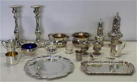 STERLING Grouping of Assorted Silver Hollow Ware