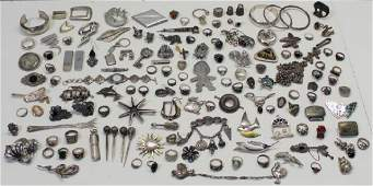 JEWELRY. Large Grouping of Assorted Sterling