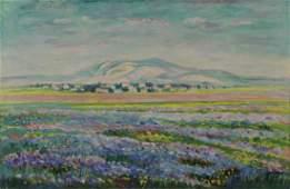 CHARUVI, Shmuel. Oil on Canvas. Landscape.