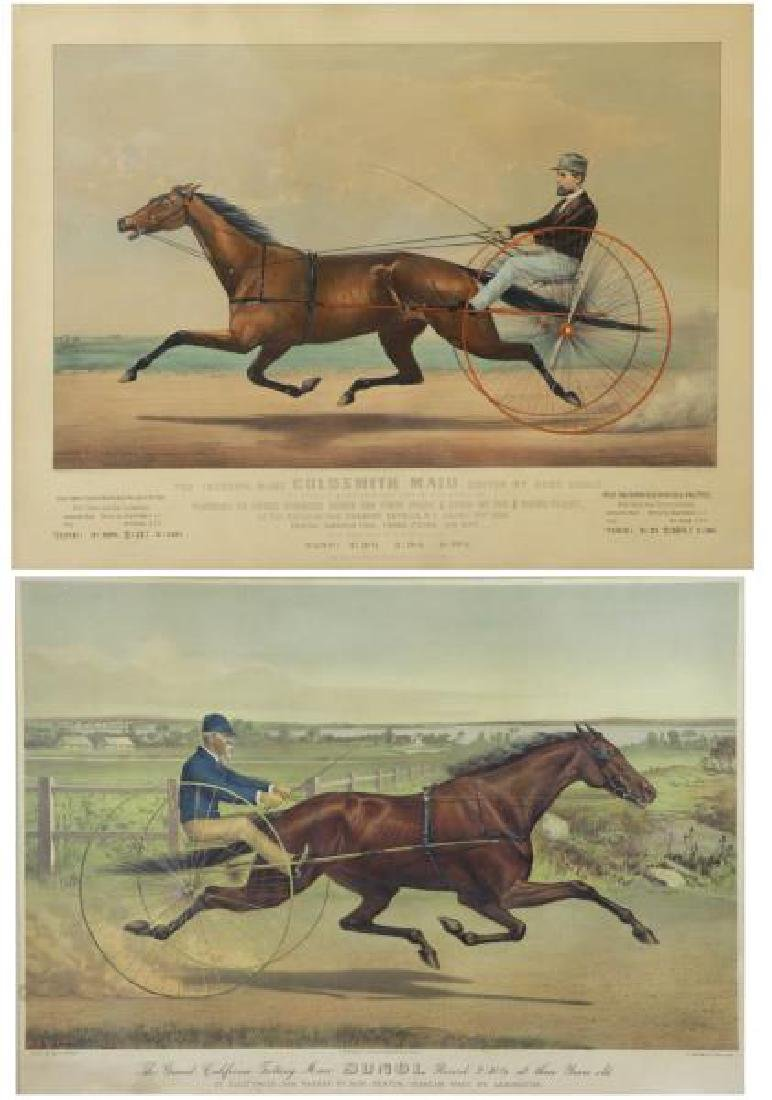 Two Currier and Ives Hand Colored Lithographs.