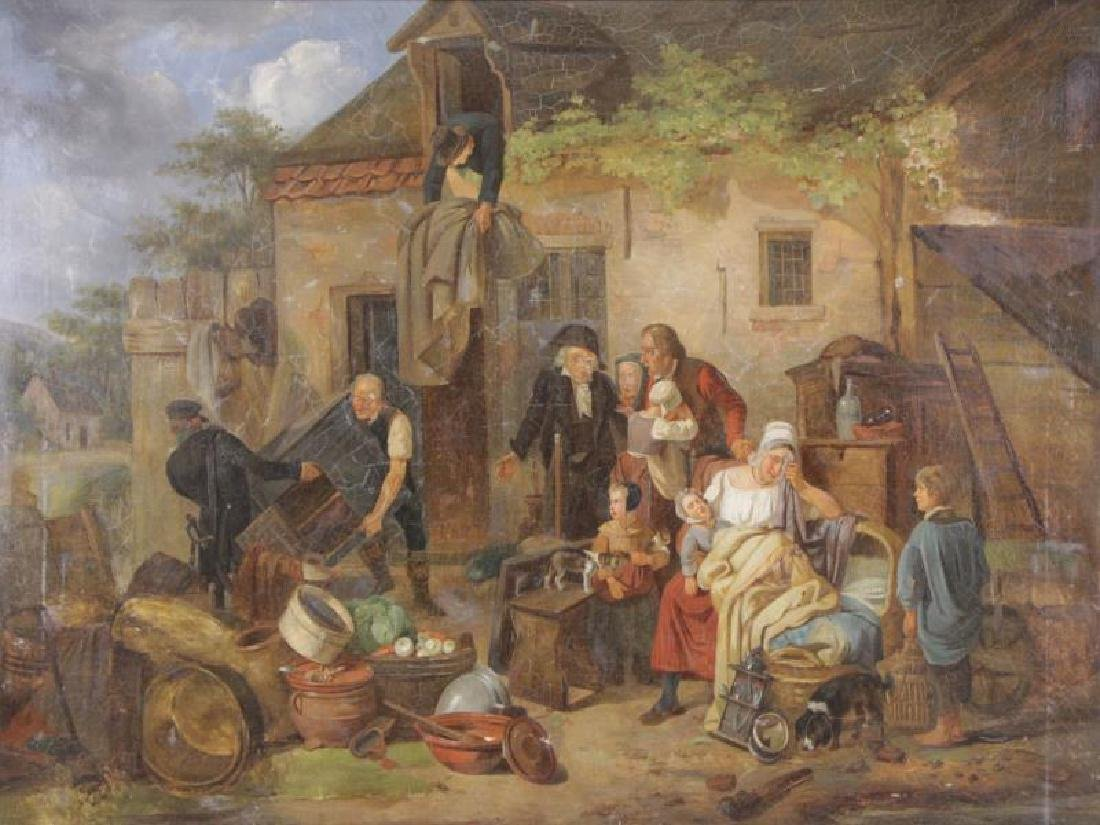 European School. 19th C. Oil on Canvas.
