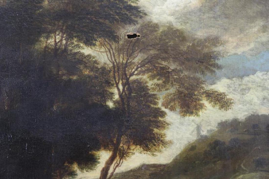 18th C. European Oil on Canvas. Figures & Animals - 2