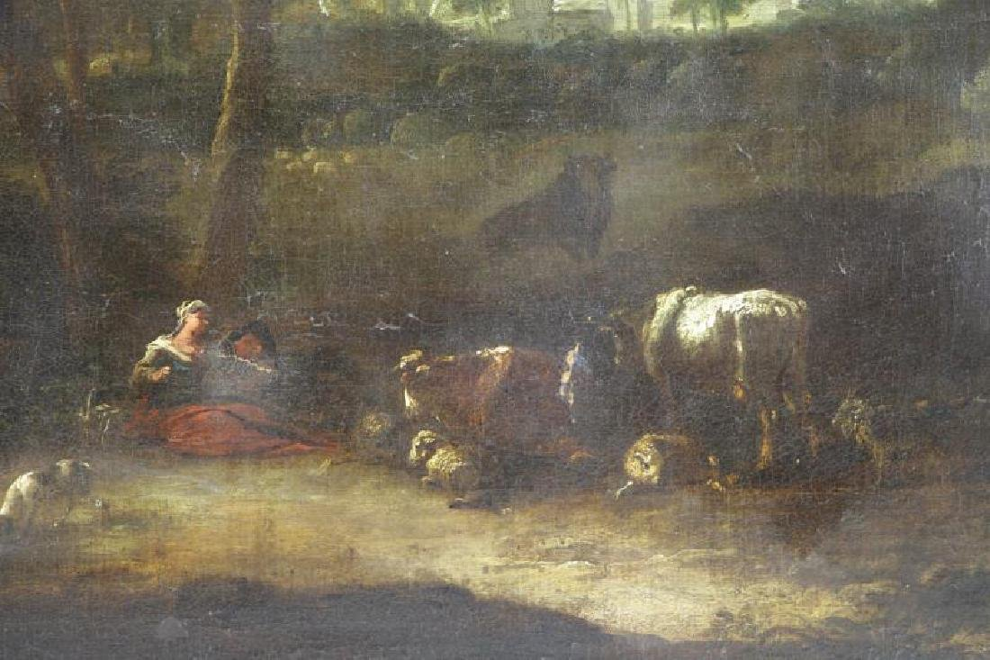 18th C. European Oil on Canvas. Figures & Animals - 3