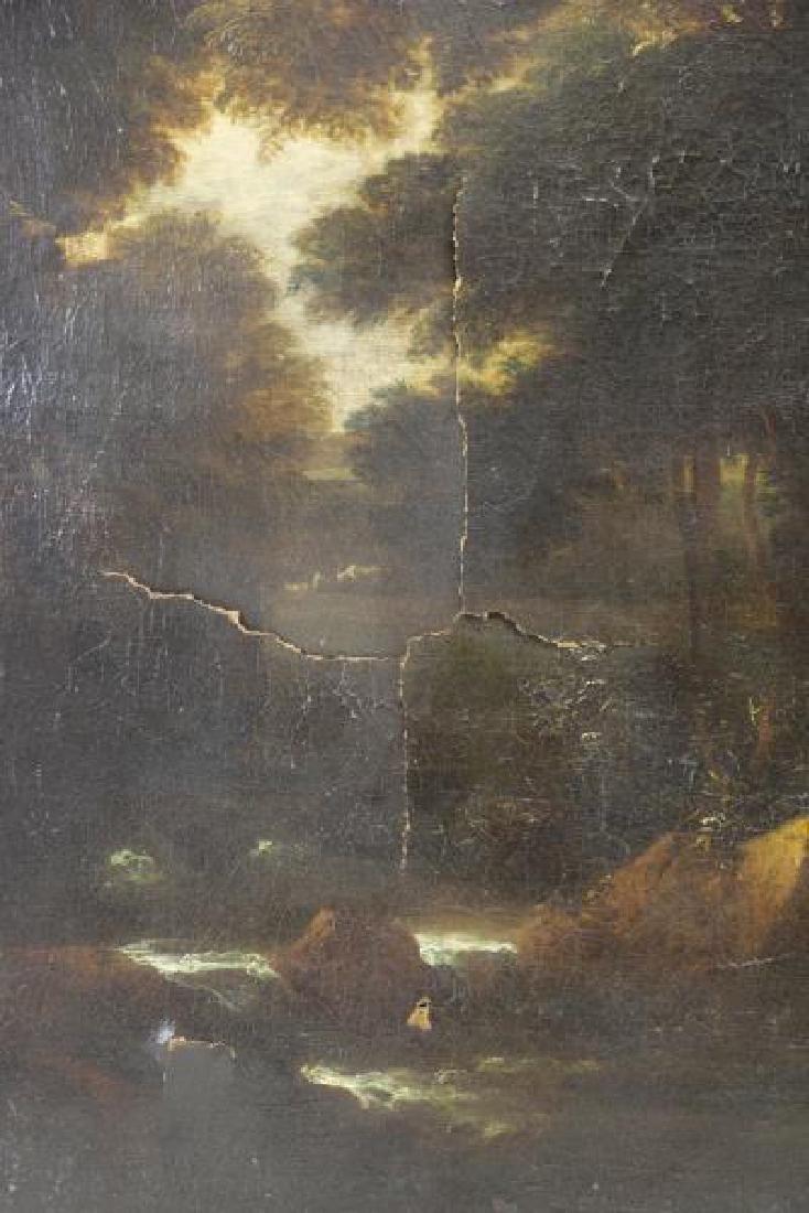 18th C. European Oil on Canvas. Figures & Animals - 4