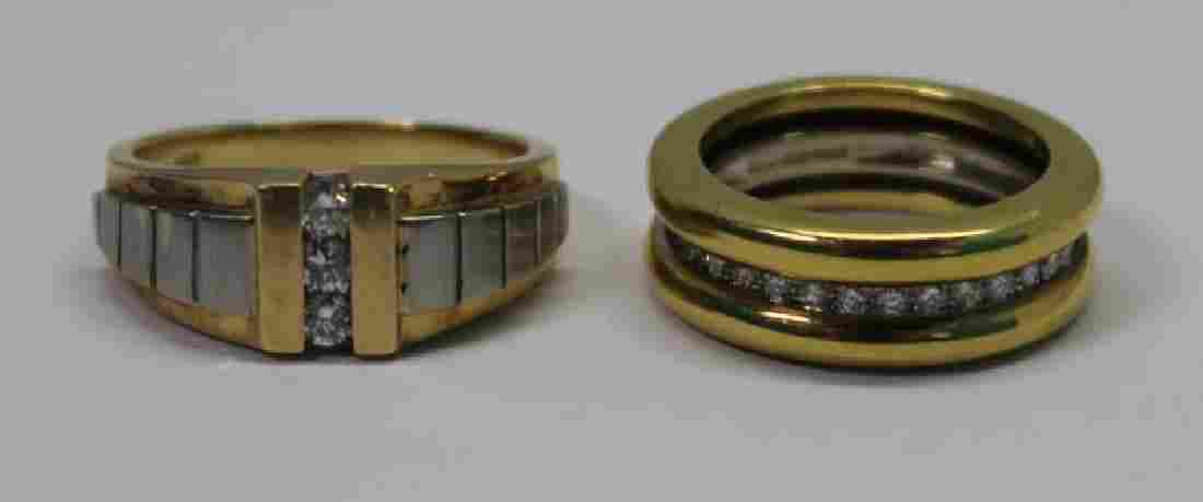 JEWELRY. Men's Gold Ring Grouping.