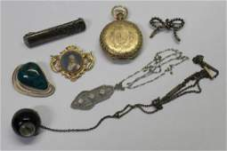 JEWELRY. Assorted Gold, Silver and Watch Grouping.