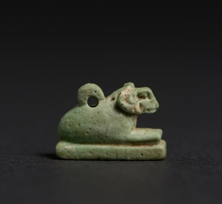 Ancient Egyptian ancient glass amulet Fayence