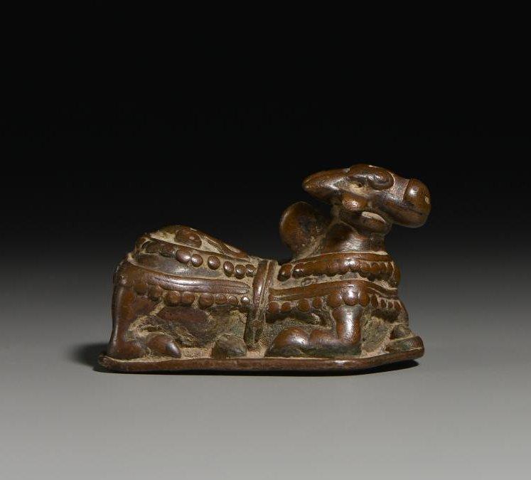 India copper 14-15 century sacred cow Nandi statues