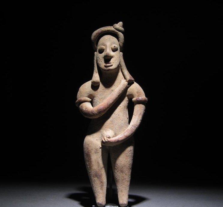 Naked man like Mayan terracotta