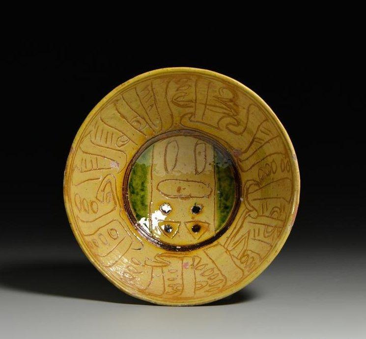 9-11-century Persia three-color engraved bowl