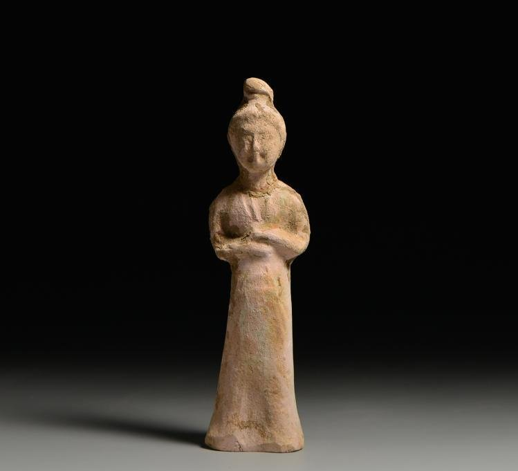 Chinese Tang Dynasty female  pottery figurines