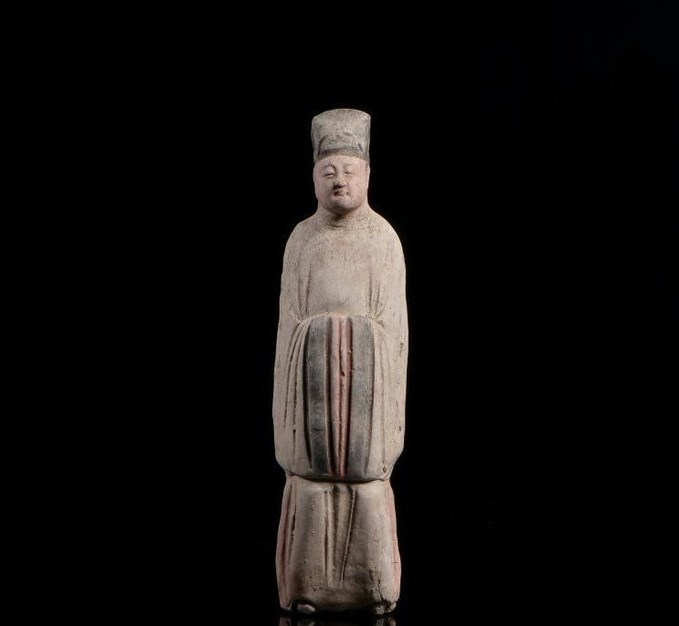 Chinese Ming Dynasty painted clay figurines