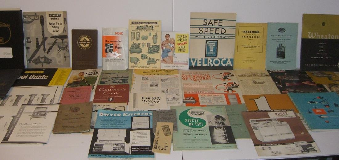 41 vintage tool guides, catalogs, pamphlets