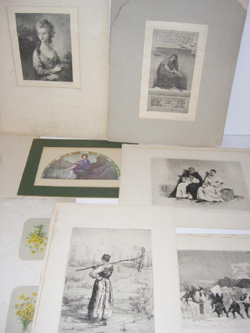 Collection of 35 etchings, engravings, lithographs - 10