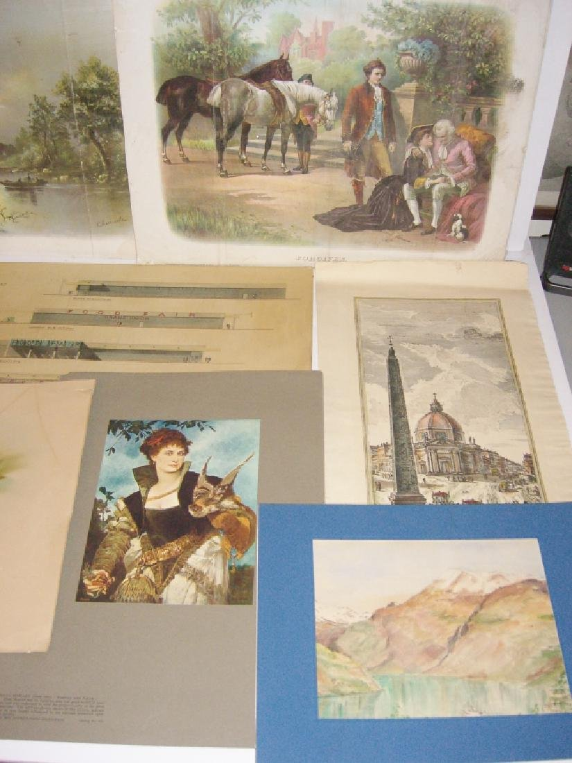 Collection of 35 etchings, engravings, lithographs - 4